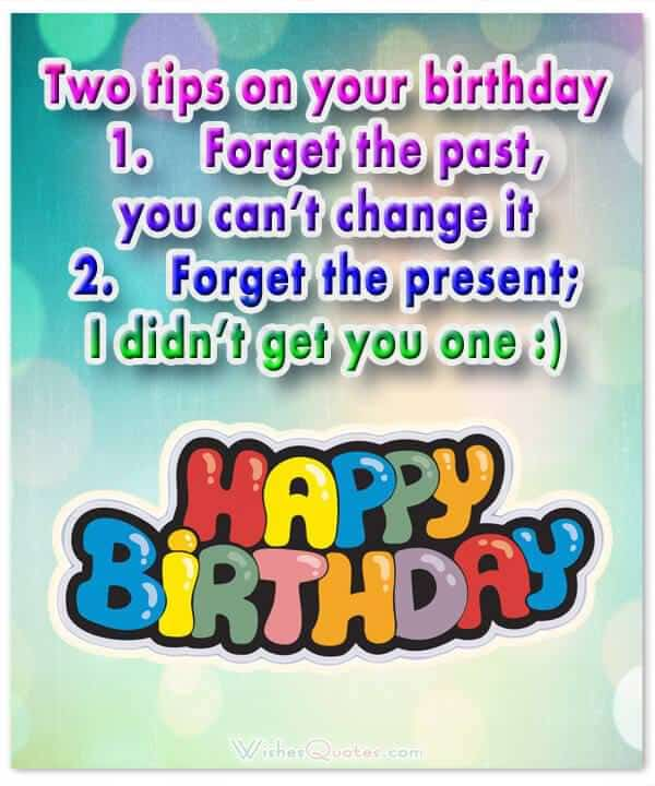funny birthday wishes for friend