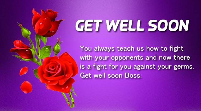 Get Well Soon Messages For a Boss