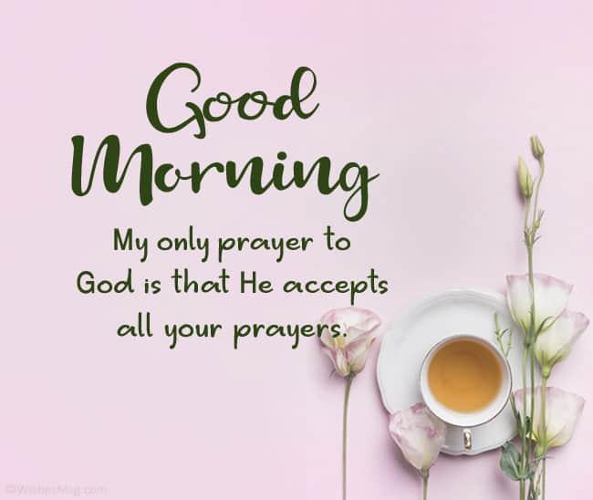 Good Morning Prayer Message For Sister