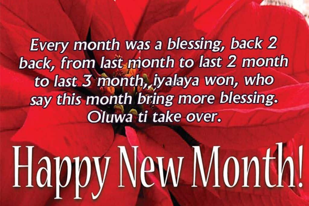 Happy new month prayer