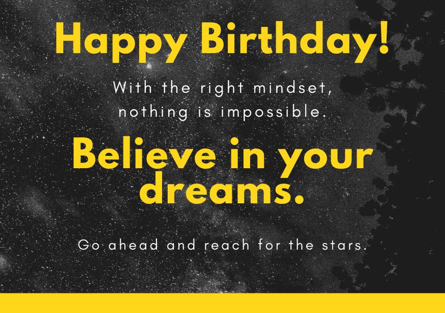 Inspirational Happy Birthday Day