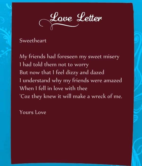 Romantic Love Letters to My Wife