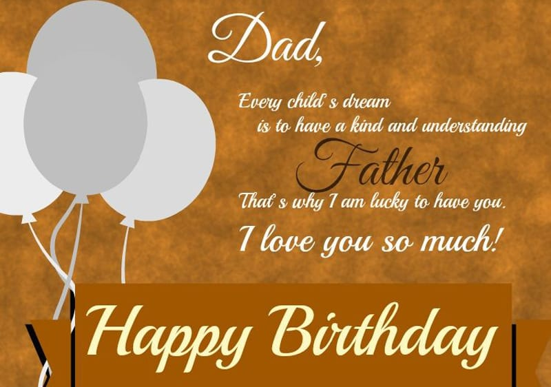 Touching Birthday Message For Dad
