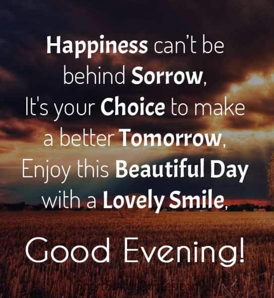 whatsapp, good evening message