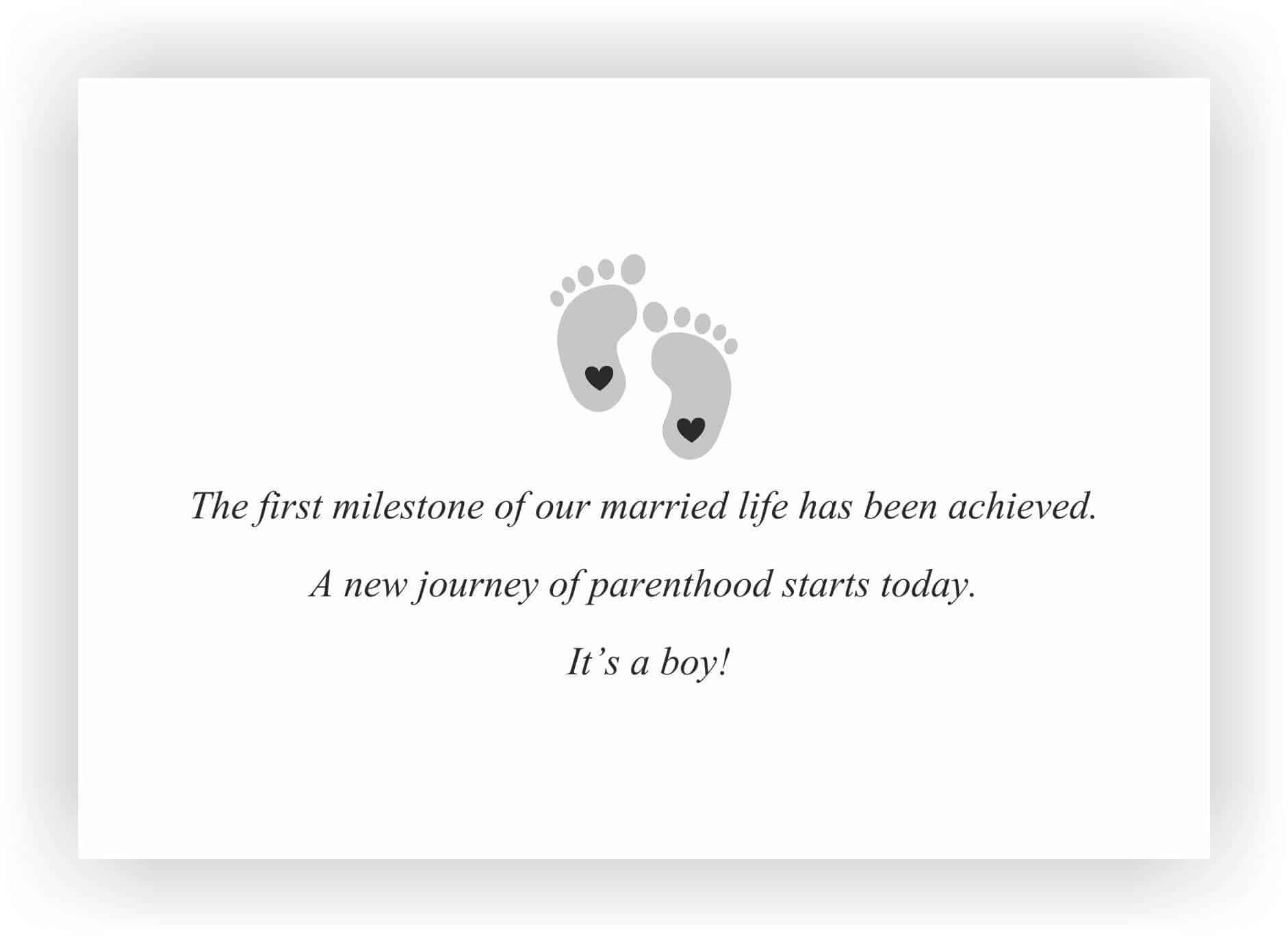 Announcement Messages For New Born Baby Boy