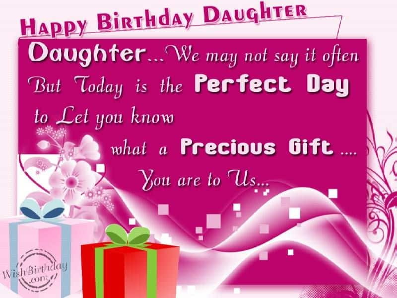 Heartwarming Birthday Wishes For daughter