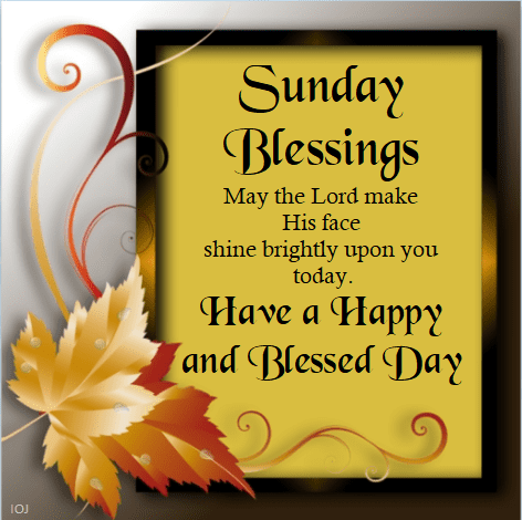 Happy Sunday blessings