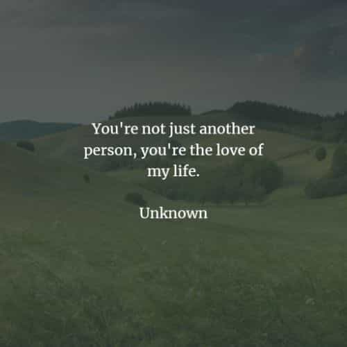 you are not just another