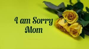 Sorry Paragraphs For Mom